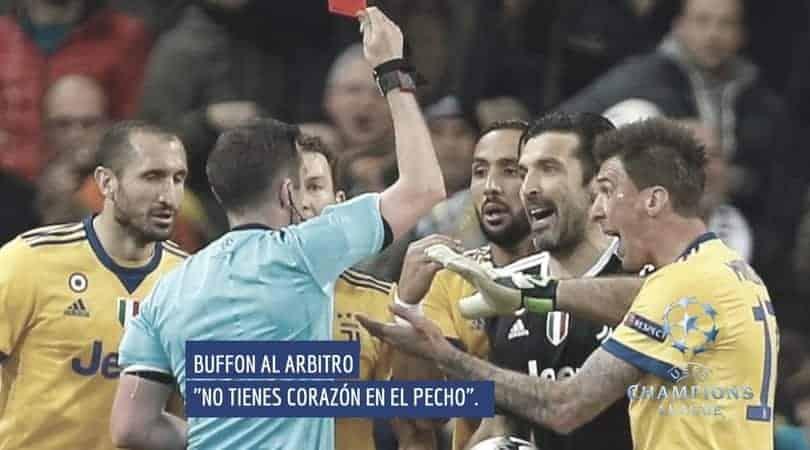 BUFFON EXPLOTA CONTRA EL ARBITRO
